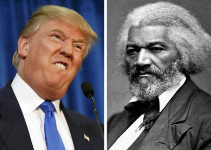 Donald Trump (left) and Frederick Douglass