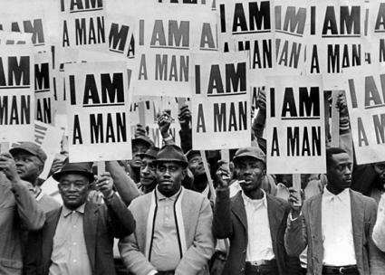 Sanitation workers in Memphis, Tennessee, fighting for civil rights and union rights in 1968