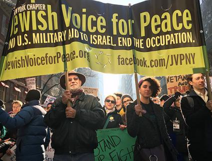 Anti-apartheid activists march for Palestinian rights in Manhattan (Jewish Voice for Peace-New York City | Facebook)