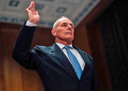 New White House Chief of Staff John Kelly at his confirmation hearing to head Homeland Security (Wikimedia Commons)