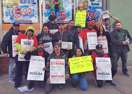 UFCW members on the picket line at Foodtown in New York City (UFCW Local 342)