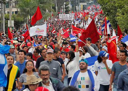 Thousands march against government corruption in Tegucigalpa