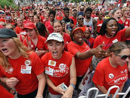 Sparks of a teacher rebellion in North Carolina