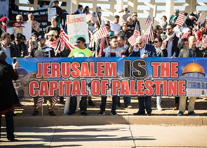 Protesters rally against Trump's Jerusalem declaration in Dallas, Texas (Desolation Simon | Capped Lens Media)