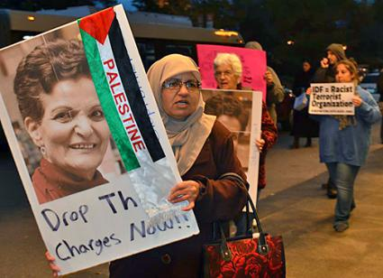 Supporters of Rasmea Odeh demand that false federal charges against her be dropped (BoycottIsraeliApartheid.org)