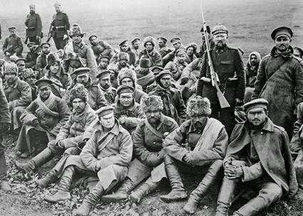 Russian soldiers during the First World War after surrendering to German forces (U.S. Library of Congress)