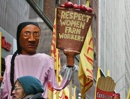 Farmworkers and their supporters bring their message to New York City (Coalition of Immokalee Workers)