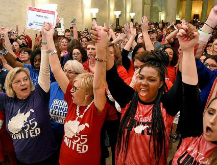 Teachers stand united during a nine-day strike in West Virginia