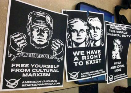 "Fascist flyers attack ""cultural Marxism"" on college campuses"