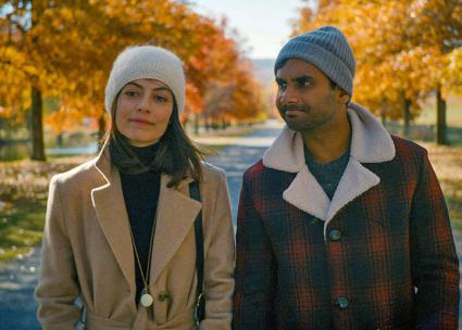 Aziz Ansari (right) and Alessandra Mastronardi star in the new season of Master of None