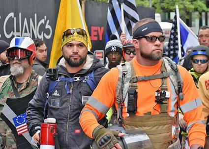 The far-right group Patriot Prayer rallies in Portland, Oregon