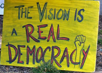 A sign made in solidarity with the immigrant rights struggle in Arizona