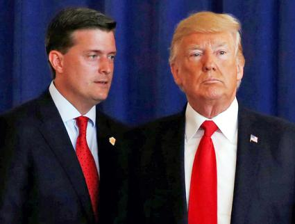 Trump with former White House Staff Secretary Rob Porter