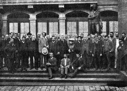 Delegates to the seventh congress of the Second International in Stuttgart, Germany