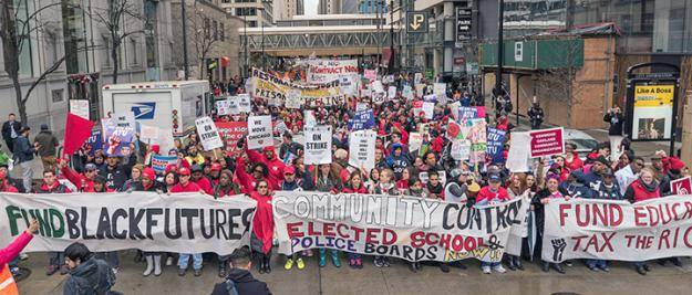 Tens of thousands filled the streets in Chicago for the April 1 day of protest (Milwaukee Teachers' Education Association)