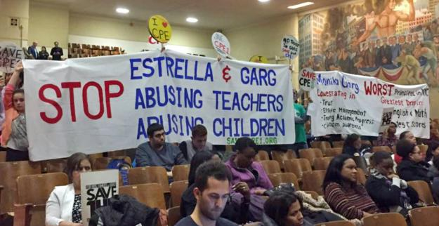 Parents and fellow teachers show their support for a Central Park East 1 educator (Save CPE1)