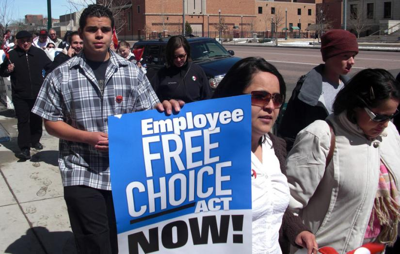Marching for the Employee Free Choice Act in Colorado Springs