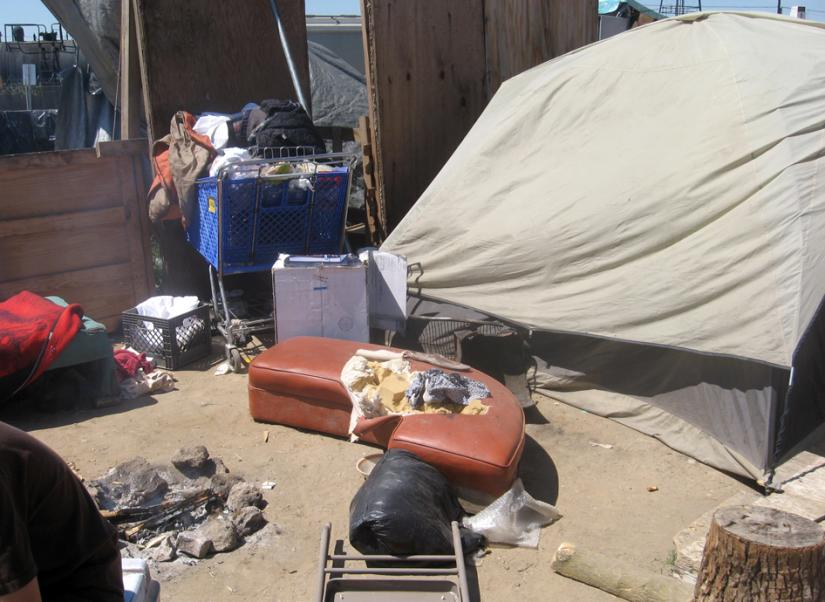 Fresno's Tent City has filled up over the past year with both the chronically homeless and recent victims of economic crisis