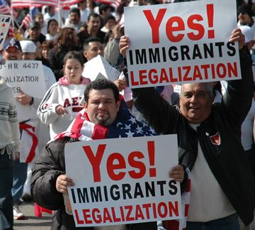 Marching for immigrant rights