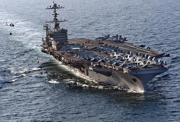 The USS John Stennis, recently deployed to the Persian Gulf