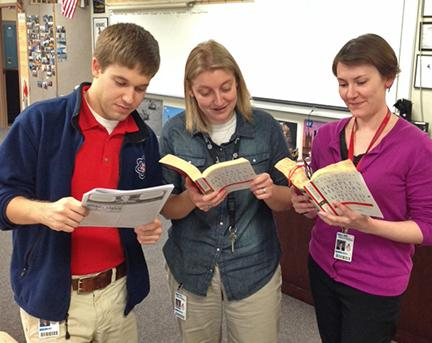 Teachers at Bedford North Lawrence High School in Indiana hold a Howard Zinn Read-in at their school