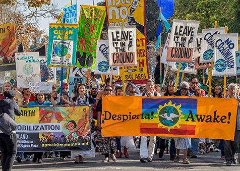 Marching to demand climate justice in Oakland, California