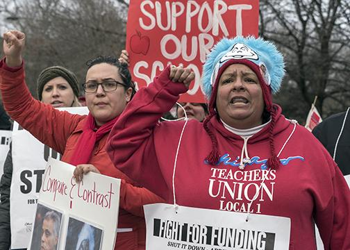 Chicago Teachers Union members demand more funding for public schools