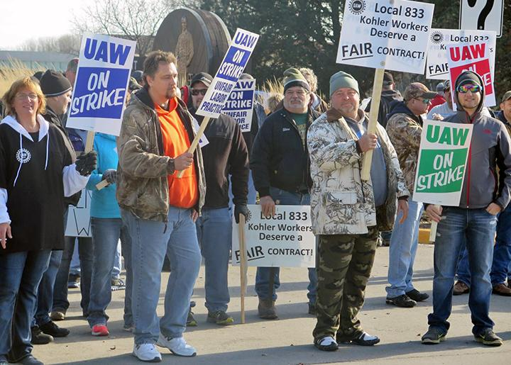 Kohler workers in Wisconsin stand strong on the picket line