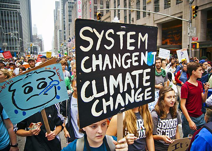 Marching for climate justice in New York City