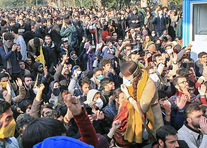 Students and workers participate in the wave of popular protests sweeping across Iran