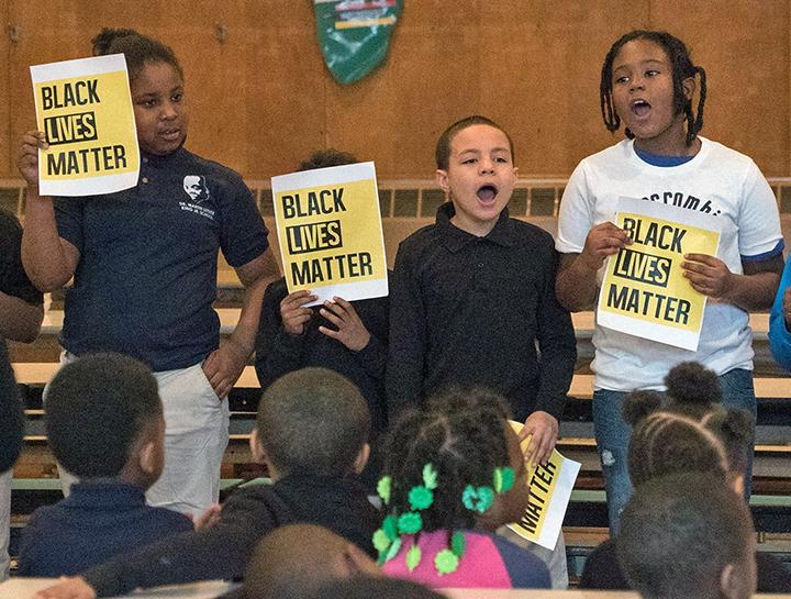 Students at Dr. Martin Luther King Jr. Elementary School in Milwaukee