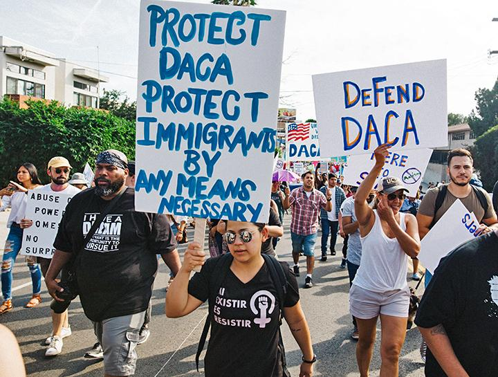 Protesters take to the streets of Los Angeles in defense of DACA and immigrant rights
