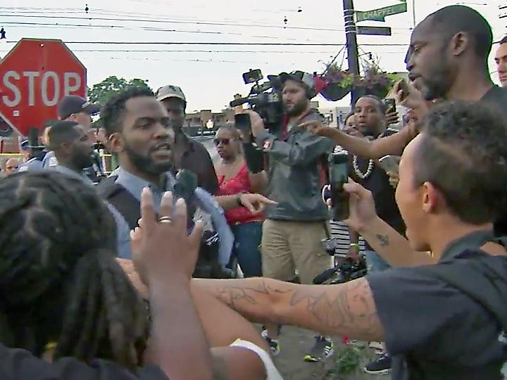 Angry protesters confront Chicago police after another murder of an African American man