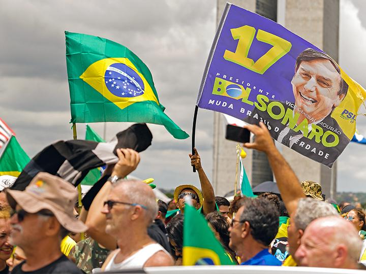 Supporters rally for Brazil's newly elected President Jair Bolsonaro
