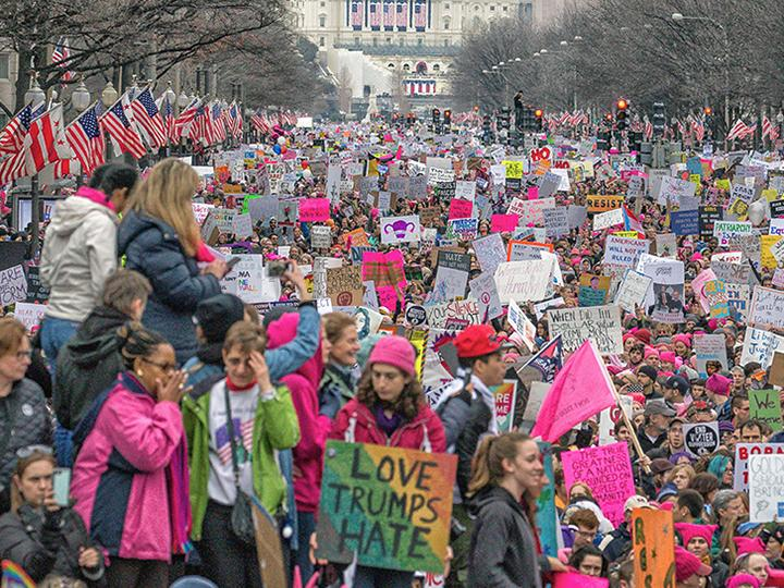 The streets of Washington, D.C., were filled for the Women's March