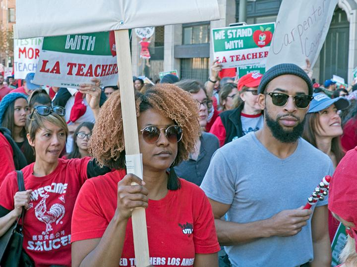 Los Angeles teachers march in defense of public education