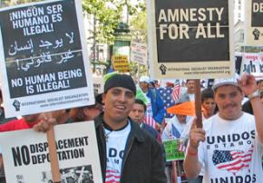 Marching for immigrant rights in San Francisco in 2007