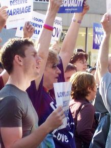 Rallying for marriage equality in New York City