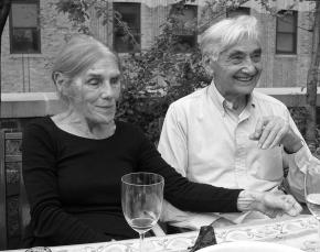 Roslyn Zinn with husband Howard Zinn