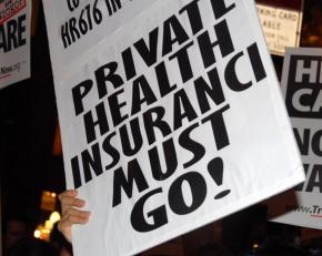 Demonstrating for single-payer in New York City