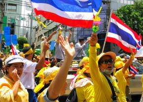 People's Alliance for Democracy protests in Bangkok in June