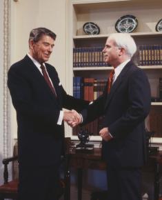 John McCain meeting with Ronald Reagan