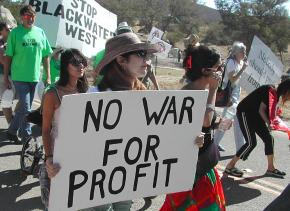 Protests stopped Blackwater from opening its planned facility in Potrero, Calif., east of San Diego