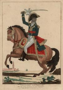 Toussaint L'Ouverture pictured in an engraving made in post-revolutionary France
