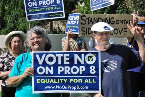 Protesting against Proposition 8