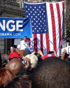 Barack Obama speaks at the University of Maryland