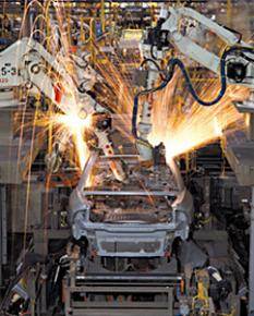 An auto assembly line