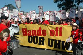 UHW members are mobilizing against the SEIU takeover