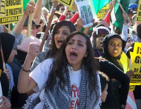 Some 5,000 people turned out in Los Angeles to demonstrate against Israel's war