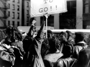 CUNY students protest tuition hikes in 1991